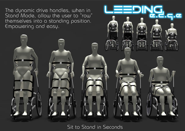 The Leeding E.d.g.e wheelchair by Tim Leeding