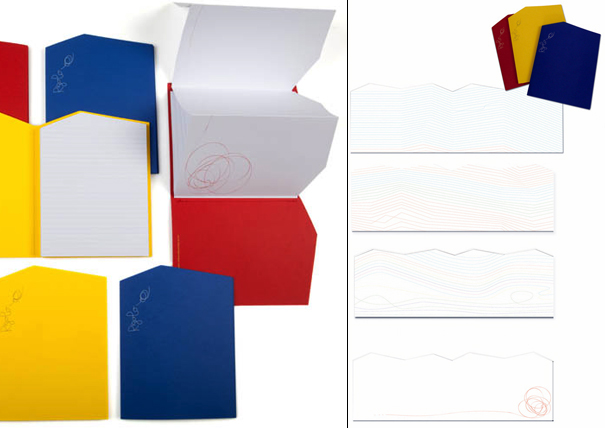 Rigolo notebooks by Denis Guidone for Fabriano