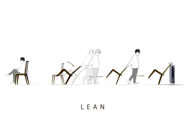 Lean - The Drying Rack Chair by Eunggyu Lee, Junghoon Baek, Sangmin Yoon & Samuel Sari & Seonggeun Chio