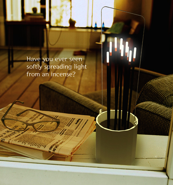 Scent – Incense Stick Mood Lights by Kyu Hyun Lee & Hae Won Jo