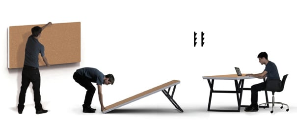 Folding Table by Endrit Hajno
