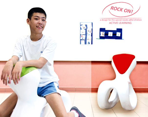 Rock On - Interactive Rocking Chair For Children With Attention Deficit Hyperactivity Disorder by Liren Tan