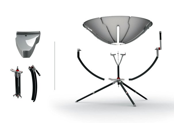 Solar Ibex outdoor solar cooker by Nir Beit-av