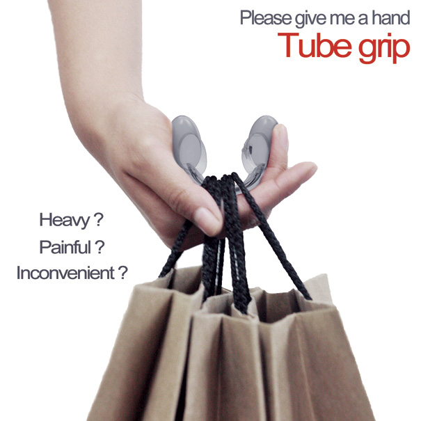 Tube Grip For Shopping Bags by Hyo-eun Kim & Eun-seok Kim