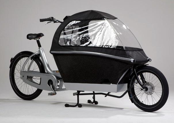 велосипед для перевозки детей и грузов