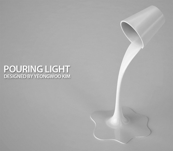 Pouring Light Lamp by Yeongwoo Kim