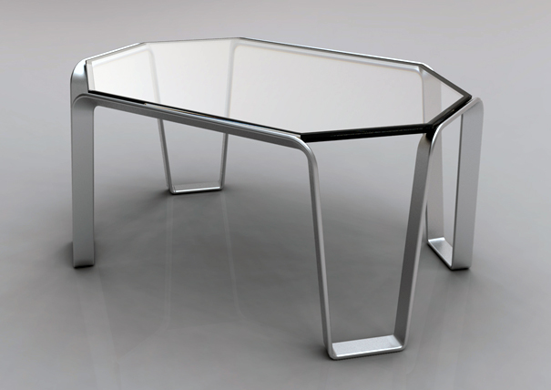 Edgewire coffee table by Alex Sacchetti