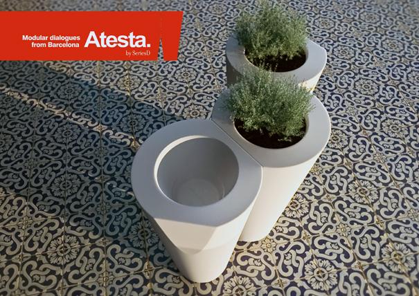 Atesta plant pots by Series D