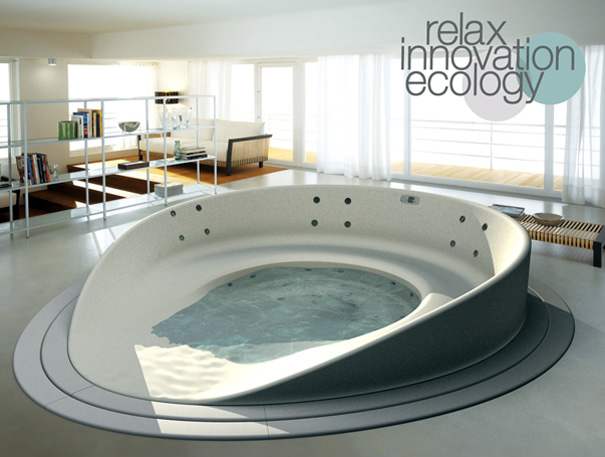 Shore Bathtub by HeyTeam Collective with Teuco