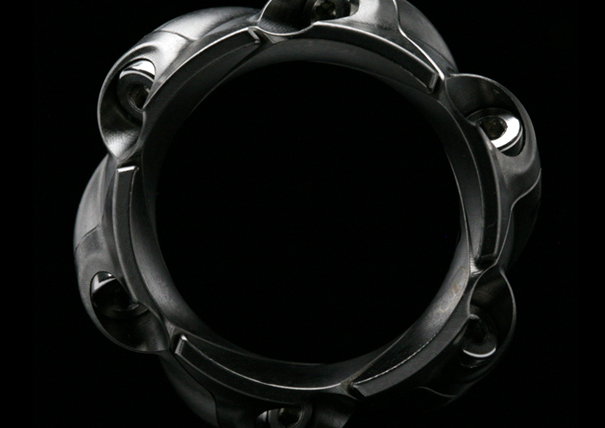 Revolver 6-piece, 5-axis machined, modular ring by RogueDZN