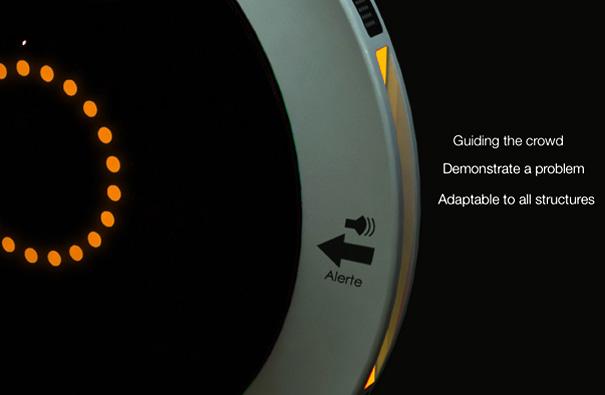 Alarm Compass For Aiding Evacuation