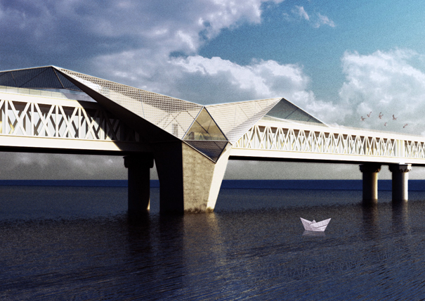 Gulle bridge architecture by Moreno Ratti