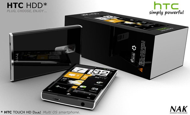 HTC HDD Cell Phone With Multi OS by Antoine Brieux