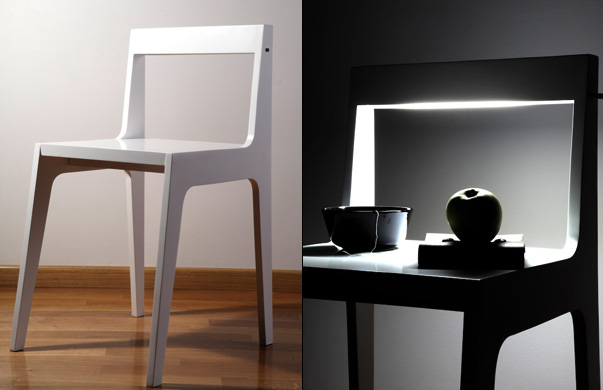 Helios Bedside Table And Chair by Spigoli Vivi & Andrea Bartolucci