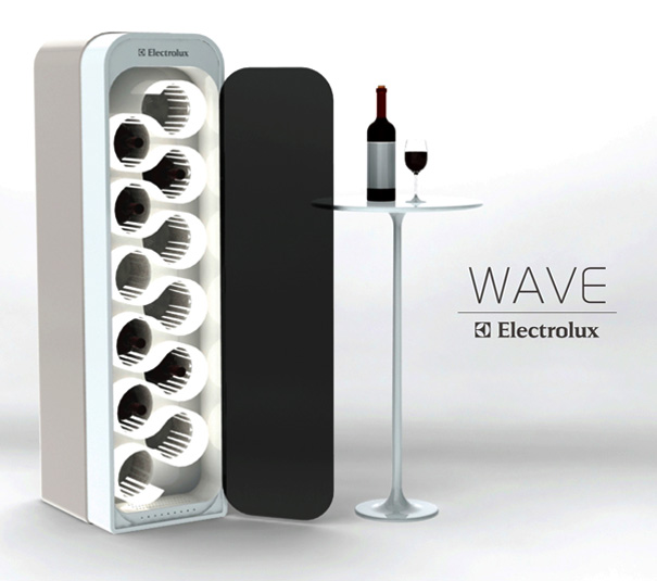 WAVE Ultra Sonic Wine Ager And Refrigerator by Mika Yamamoto
