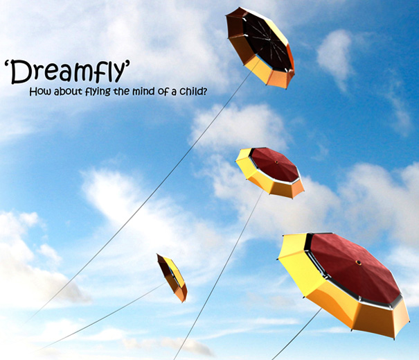 Dreamfly – Umbrella Kite by YuKwang Kang & Jinsu Cho