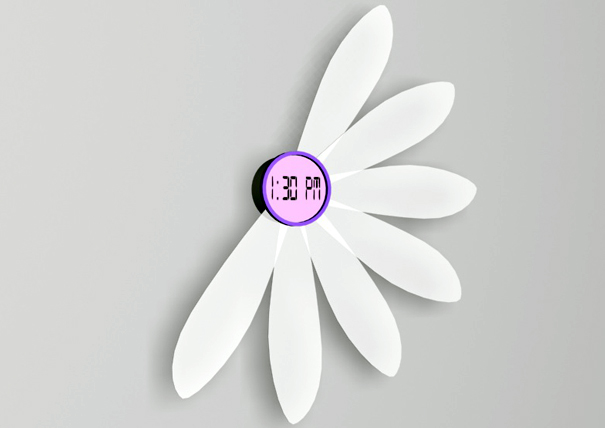 Clock Of Many Petals Yanko Design