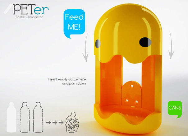 PETer Plastic Bottle And Can Crusher by Guillermo Juárez & Samantha Arredondo