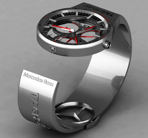 Tag heuer formula 1 watch yanko design for Mercedes benz f1 shop