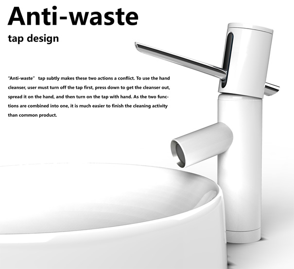 Anti Waste Soap Dispenser and Faucet by Junjie Zhang
