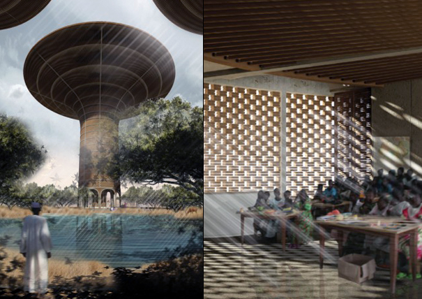 Water Tower for Sudan by Hugon Kowalski of UGO Architecture and Design