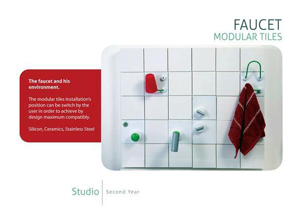 Faucet Modular Tiles by Daniela Bekerman