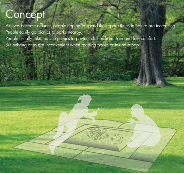 M.A.T. - Mat Air Together Picnic Mat by Ko Ha-Rim, Moon Jun-Young, Nam Hyeong-Taek & Seong Yeon-Woo