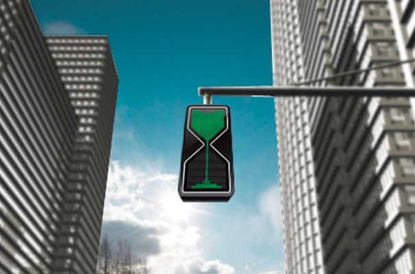Sand Glass LED Traffic Lights by Thanva Tivawong