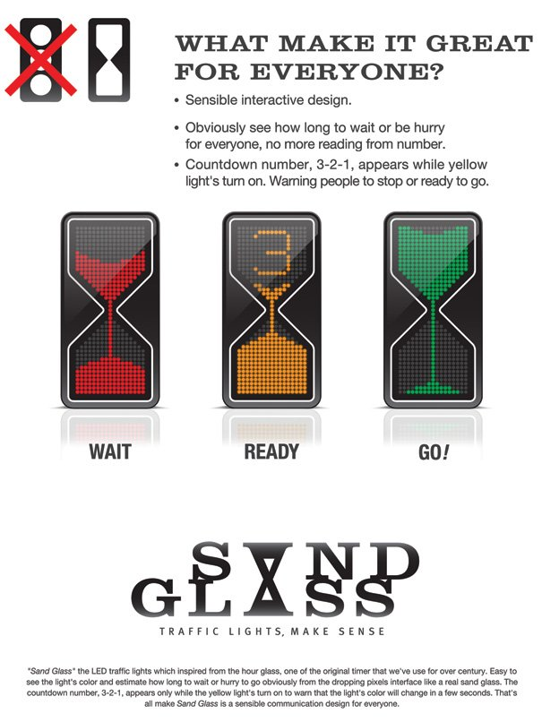 sandglass signal3 Концепт песочного светофора