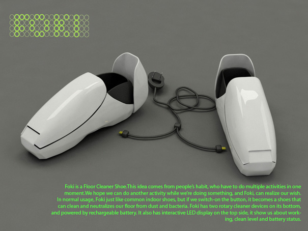 Shoes That Clean The Floor Yanko Design