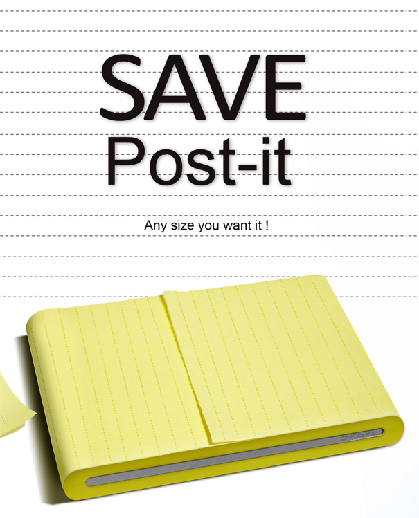 SAVE Post-it – Sticker Notes by Chu Li-Chiao, Yang Hsiang-Hui & Yang Kai-Cheng