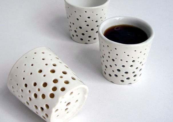 Holey Jolly Cup by Makiko Nakamura