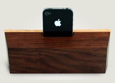 All Wood iPhone Amplifier