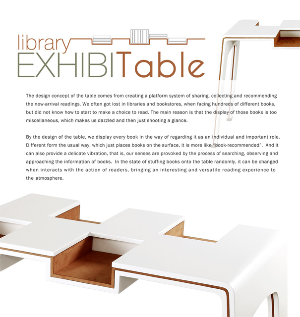 Exhibi-Table for Library by Lu Chieh-Hua & Cheng Tzu-Hao