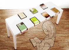 Slotted Table For Books
