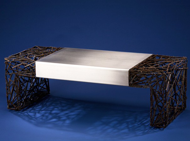 Two Faced - Coffee Table Bench by Dan McCabe