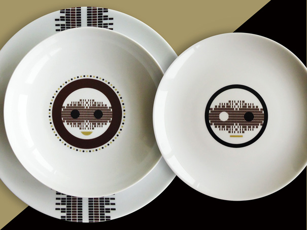 Patterned Smile - Porcelain Tableware Set by Estudio BIS//CUIT