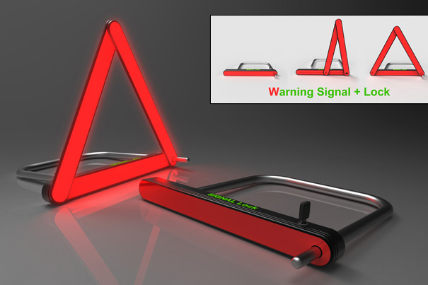 Signal Lock – Bicycle LED Warning Light by Chen Guan-Yuan
