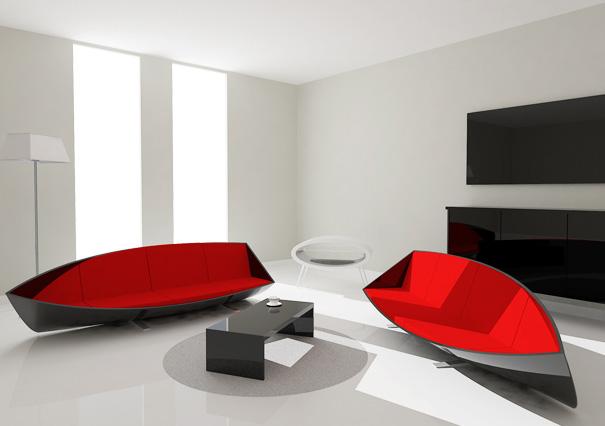 Boat Sofa by Bongyoel Yang
