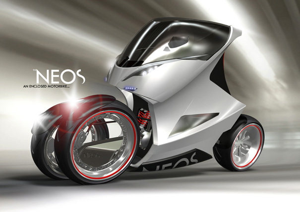 NEOS Enclosed Motorcycle by Daniel Munnink
