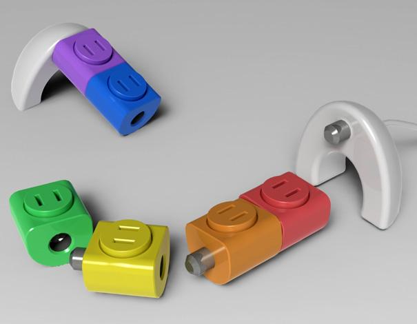 Let s play lego sockets yanko design for Articulos de oficina