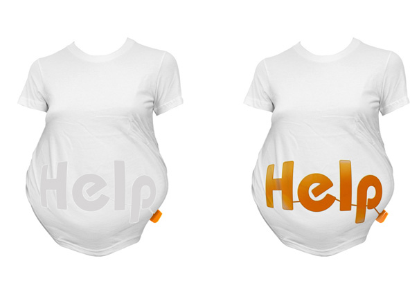 Help-Shirt – SOS Shirts for Pregnant Women by Wang Qiubo & Hu Xinyuan