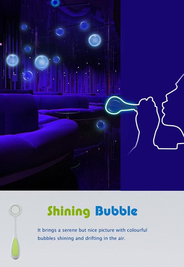 Shining Bubble – Glittering Bubbles Lamp by Wang Qiubo, Shen Lingyan, Zou Yujuan & Shi Tenggao