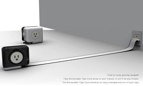 Retractable Tape Cord by Ho-Tzu Cheng