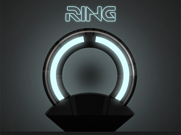 Ring Lamp - Tron Inspired Lamp by Loris Bottello