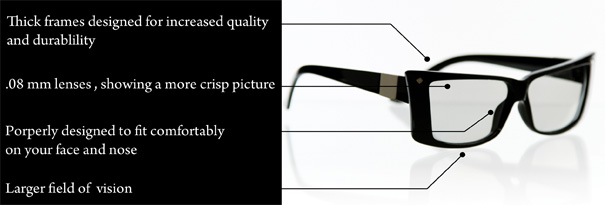 3D Glasses by Del Rey & Co.