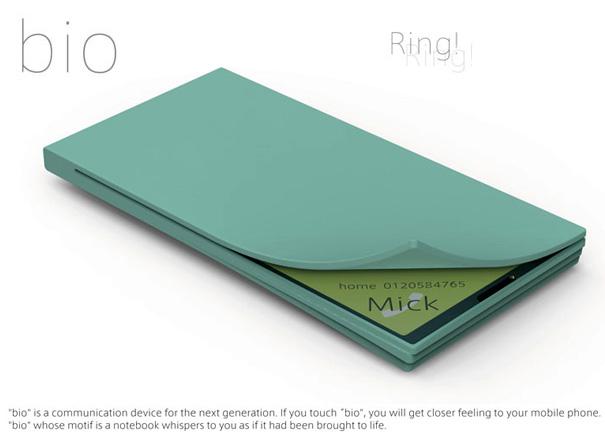 Bio Phone Concept by Miyazawa Tetsu & Ichimura Shigenori