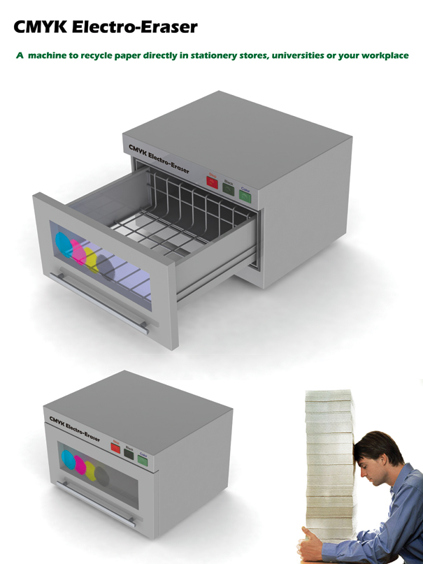 Electromagnetic Paper Recycling System by Mohsen Saleh