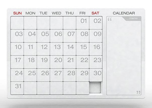 Puzzle Calendar by Yan Yunyong