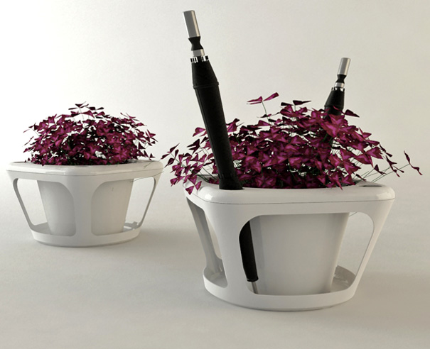 Cavity – Flowerpot and Umbrella Holder by Merve Sarışın